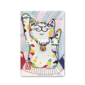ポストカード 虹色猫1
