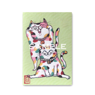 ポストカード 虹色猫3