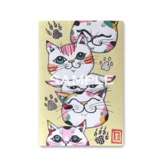 ポストカード 虹色猫4