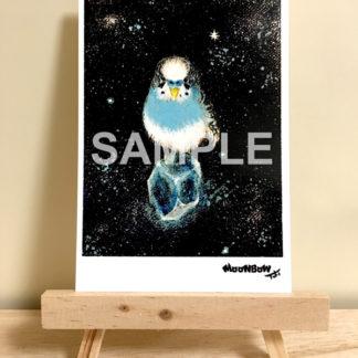 ポストカード ミニキャンバスシリーズ 青い鳥と綺麗な石06
