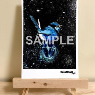 ポストカード ミニキャンバスシリーズ 青い鳥と綺麗な石07